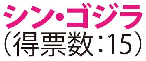 シン・ゴジラ(得票数:15)